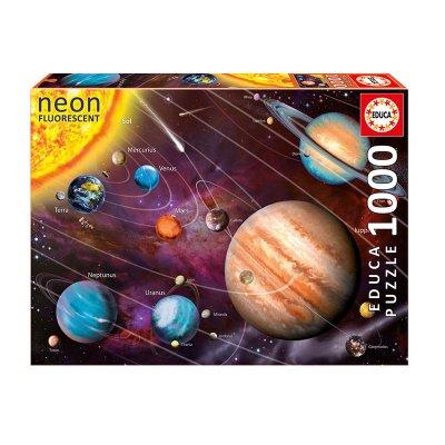 Puzzle Sistema Solar Neón 1000pzs