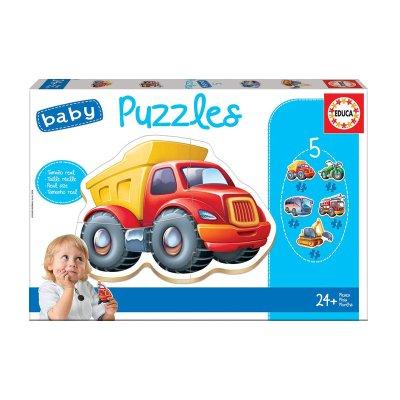 Baby Puzzle Vehículos 5x3/5pzs