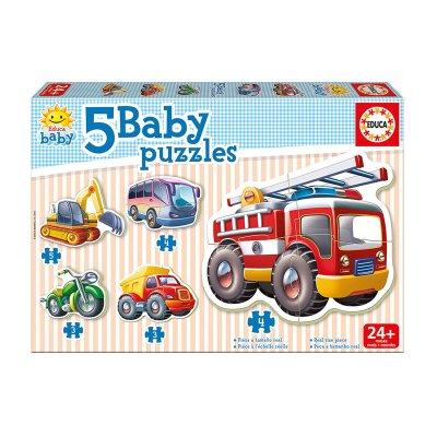 Baby Puzzle Vehículos 5x2/4pzs