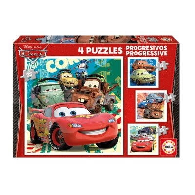 Puzzles Progresivos Cars 12 16 20 25pzs