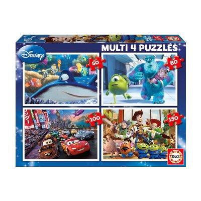 Multi 4 puzzles Pixar 50 80 100 150pzs