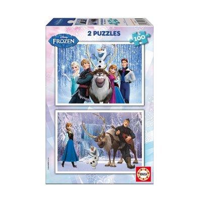 Puzzle Frozen 2x100 pzs