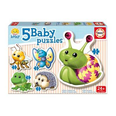 Baby Puzzle Animales de bosque 5x2/4pzs
