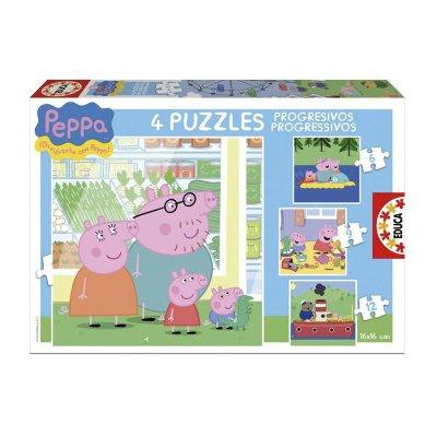 Puzzle Progresivos Peppa Pig 6 9 12 16 pzs
