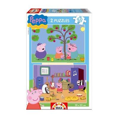 Puzzle Peppa Pig 2x48 pzs