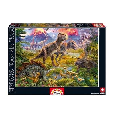 Puzzle Encuentro De Dinosaurios 500 pzs