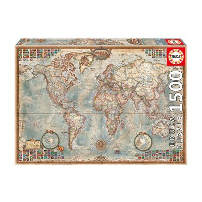 Puzzle Mapa Político El Mundo 1500pzs