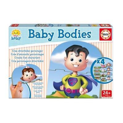 Baby Puzzle Bodies 4x3pzs
