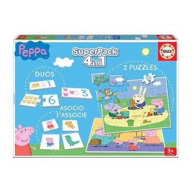 Puzzle Peppa Pig 4 en 1 2x25pzs