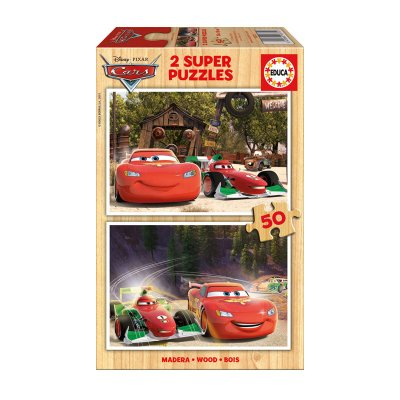 Wholesaler of Puzzles madera Cars 2x50pzs