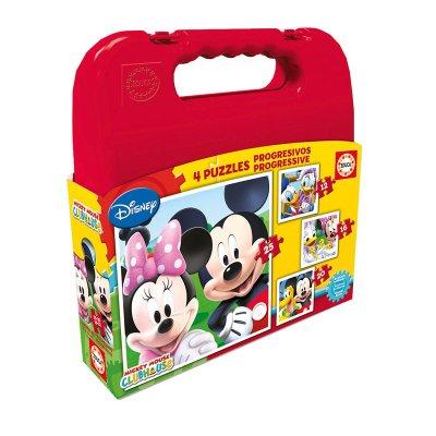 Wholesaler of Puzzles Maleta Progresivos Mickey 12 16 20 25pzs