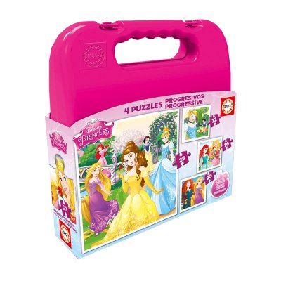 Wholesaler of Puzzles Maleta Progresivos Princesas Disney 12 16 20 25pzs