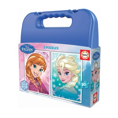 Puzzles Maleta Progresivos Frozen Disney 2x20pzs