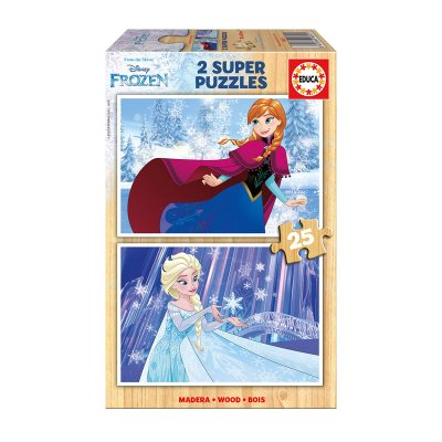 Puzzles madera Frozen 2x25pzs