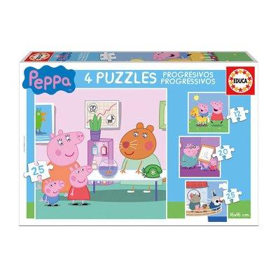 Puzzles Progresivos Peppa Pig 12 16 20 25pzs