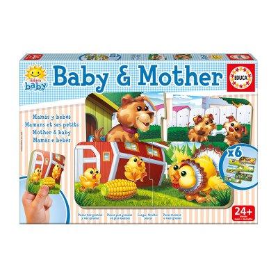 Baby Puzzle Bebes y Mamas 2x6pzs