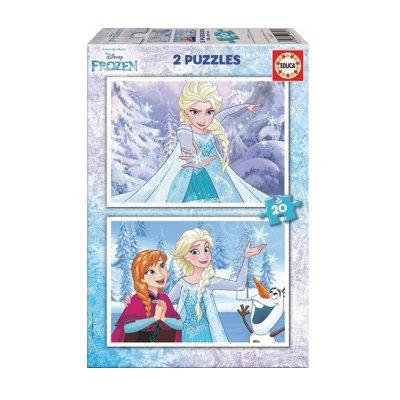 Puzzle Frozen 2x20 pzs
