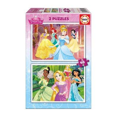 Puzzle Princesas Disney 2x48 pzs