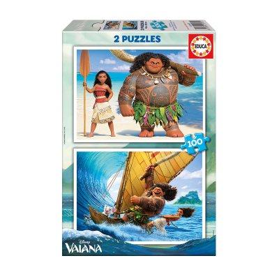 Puzzle Vaiana Disney 2x100pzs