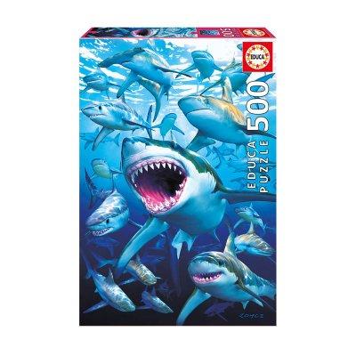 Puzzle Tiburones 500pzs