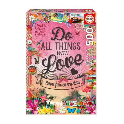 Puzzle Do All Things With Love 500pzs