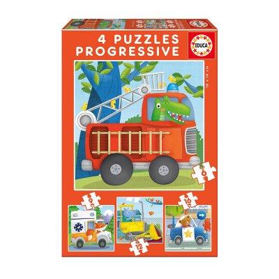 Puzzles Progresivos Patrulla de rescate 6 9 12 16pzs