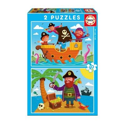 Puzzles Piratas 2x20pzs