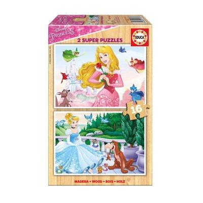 Puzzle madera Princesas Disney 2x16 pzs