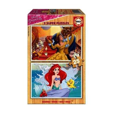 Puzzles madera Princesas Disney 2x25pzs