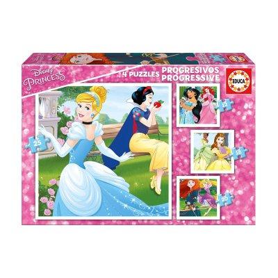 Puzzles Progresivos Princesas Disney 12 16 20 25pzs