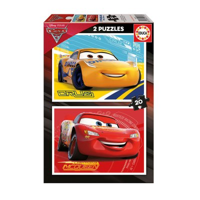 Puzzle Cars 3 2x20 pzs