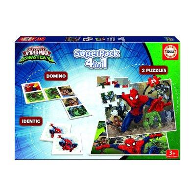 Puzzle Spiderman Marvel 4 en 1 2x25pzs