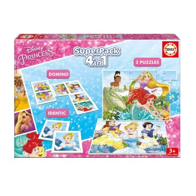 Wholesaler of Puzzle Princesas Disney 4 en 1 2x25pzs