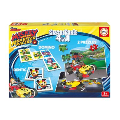 Puzzle Mickey and The Roadster Racers 4 en 1 2x25pzs