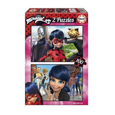 Puzzle Miraculous Ladybug 2x100 pzs