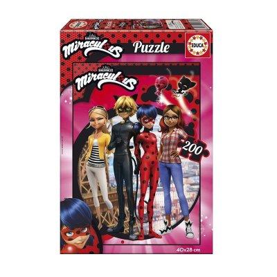 Puzzle Miraculous Ladybug 200 pzs