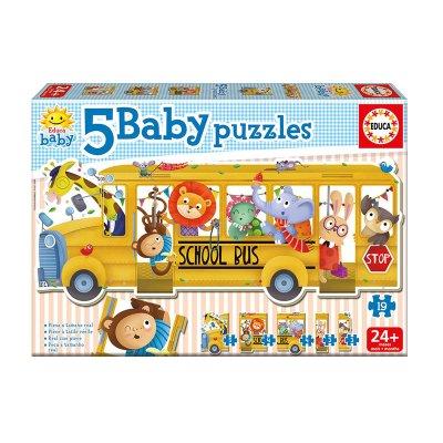 Baby Puzzle Autobús escolar animales