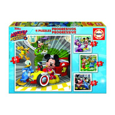Puzzles Progresivos Mickey & The roadster racers 12 16 20 25pzs
