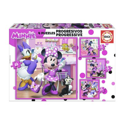 Puzzles Progresivos Minnie happy helpers 12 16 20 25pzs