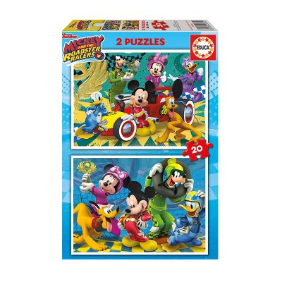 Puzzles Mickey and The Roadster Racers 2x20pzs