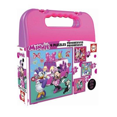 Puzzles Maleta Progresivos Minnie Mouse 12 60 20 25pzs