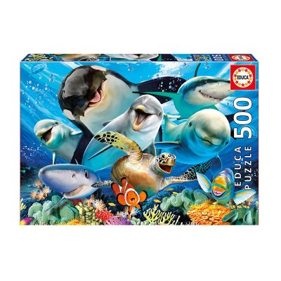 Puzzle Selfie bajo el agua 500pzs