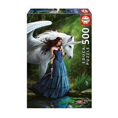 Puzzle Estanque encantado Anne Stokes 500pzs