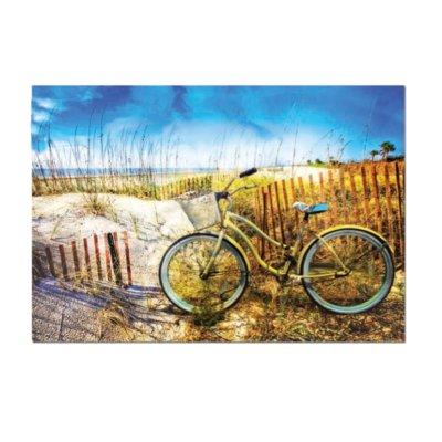 Puzzle Bicicleta el las dunas 1000pzs