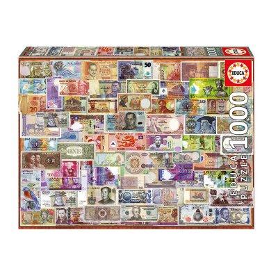 Puzzle Billetes del mundo 1000pzs