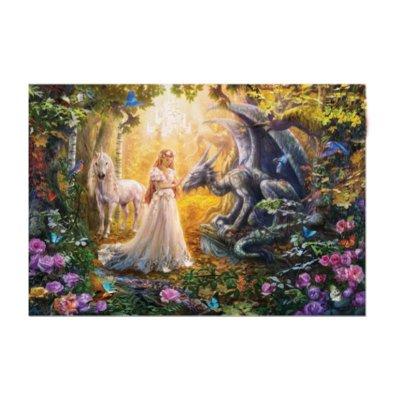 Puzzle Dragón Princesa y Unicornio 1500pzs