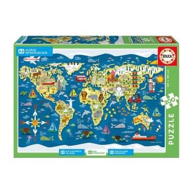 Puzzle Mapa Mundi Sean Sims 200pzs