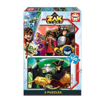 Puzzles Zak Storm 2x100pzs