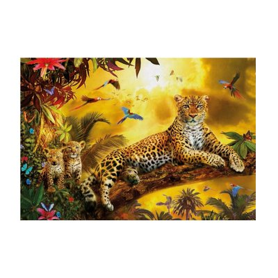 Puzzle Leopardo y sus cachorros 500pzs
