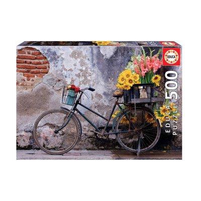 Wholesaler of Puzzle Bicicleta con flores 500pzs